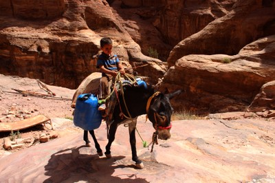 Young Bedul on his way to the Monastery (Ad-Deir) in Petra